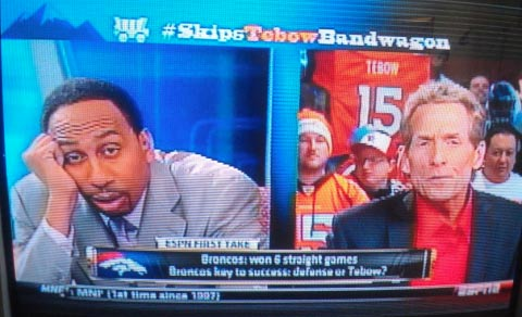 Stephen A Smith funny face Skip Bayless ESPN