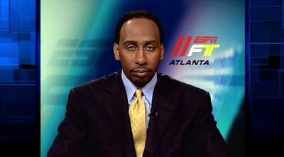 Stephen A Smith funny face Skip Bayless ESPN bored