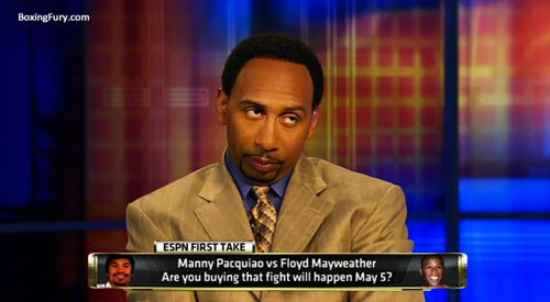 Stephen A Smith funny face Skip Bayless