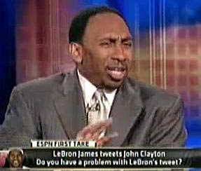 Stephen A Smith funny face Skip Bayless faces