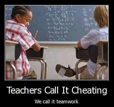 cheating-teamwork