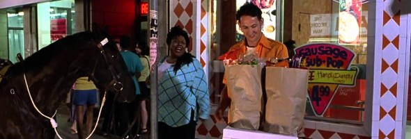 Here is a classic Harland Williams Half Baked in a scene ...