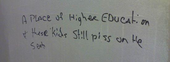 funny bathroom graffiti education
