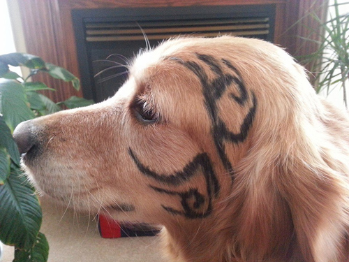 Mike Tyson dog face tattoo