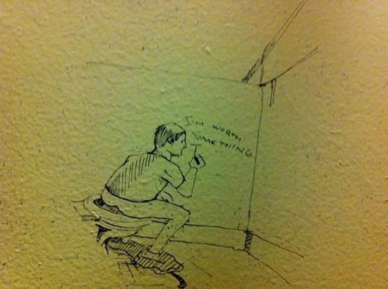 funny bathroom graffiti drawing meta