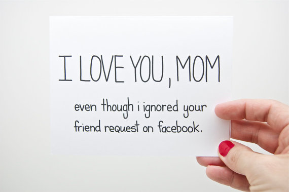 awkward mother's day card facebook friend