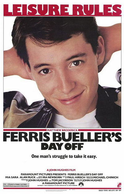Best comedies ever Ferris Bueller's Day Off (1986)