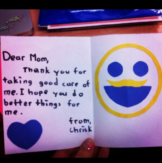 awkward mother's day card do better