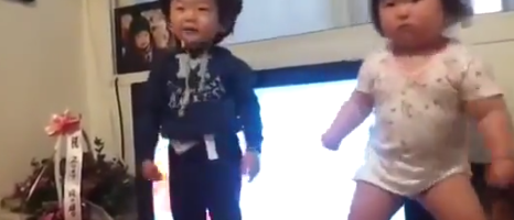 korean baby dancing