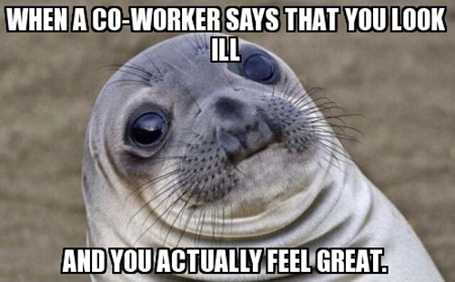 Awkward Moment Seal meme ill feel great