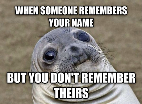 Awkward Moment Seal remember name