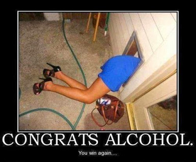 Funny Pictures alcohol wins girl