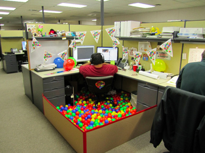 Funny Office Pranks ball pit