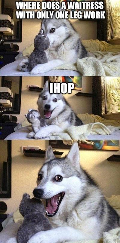 funny pun husky meme ihop