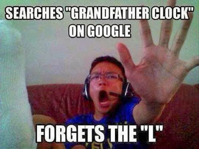 google grandfather clock without the L