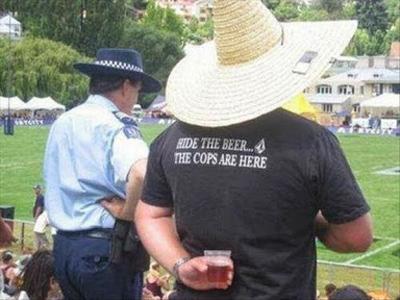 Funny Pictures hide beer cops shirt