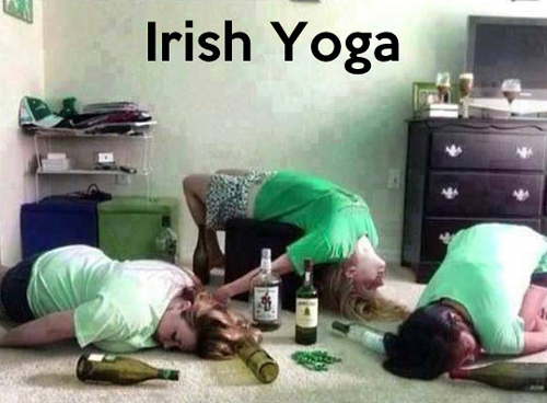 Irish Yoga Pictures drunk