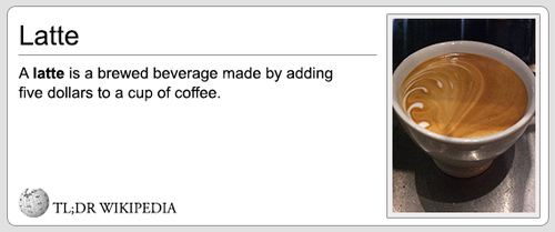 Funny Pictures latte definition