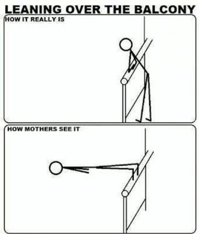 Funny Pictures mom sees balcony