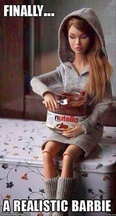 Funny Pictures nutella barbie