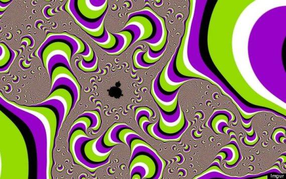 optical illusion purple swirls moving