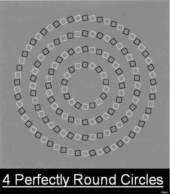 perfect circles optical illusion