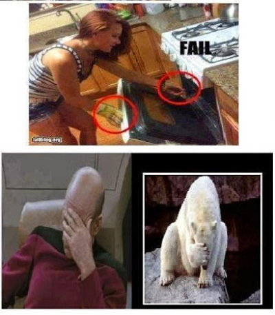 Funny Pictures oven mitt fail