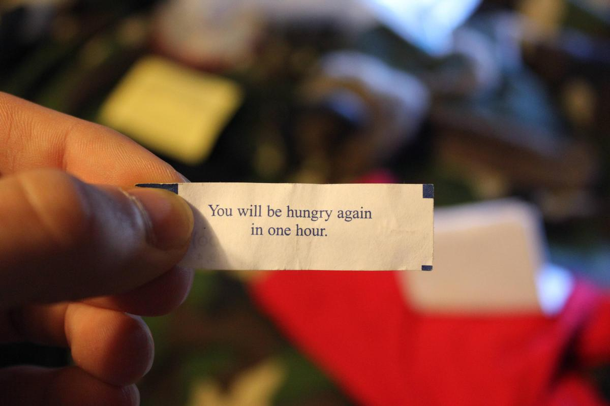 you will be hungry again fortune cookies
