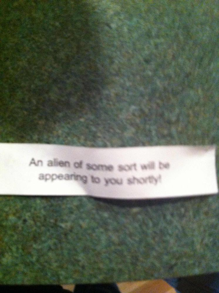 alien funny fortune cookie