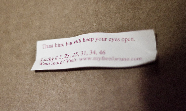trust him fortune cookie funny