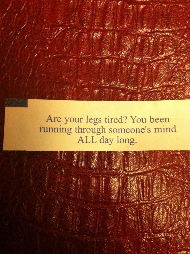legs tired funny fortune cookie