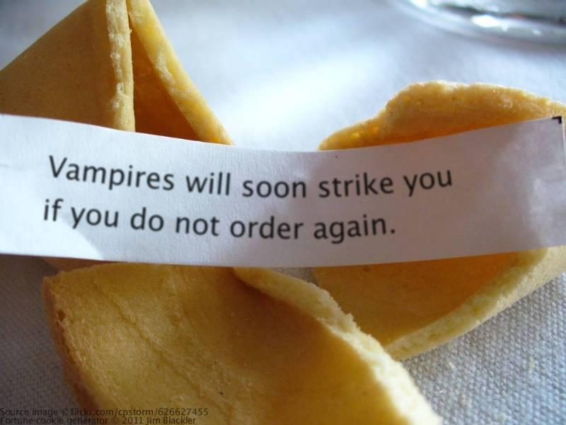 vampires fortune cookie funny