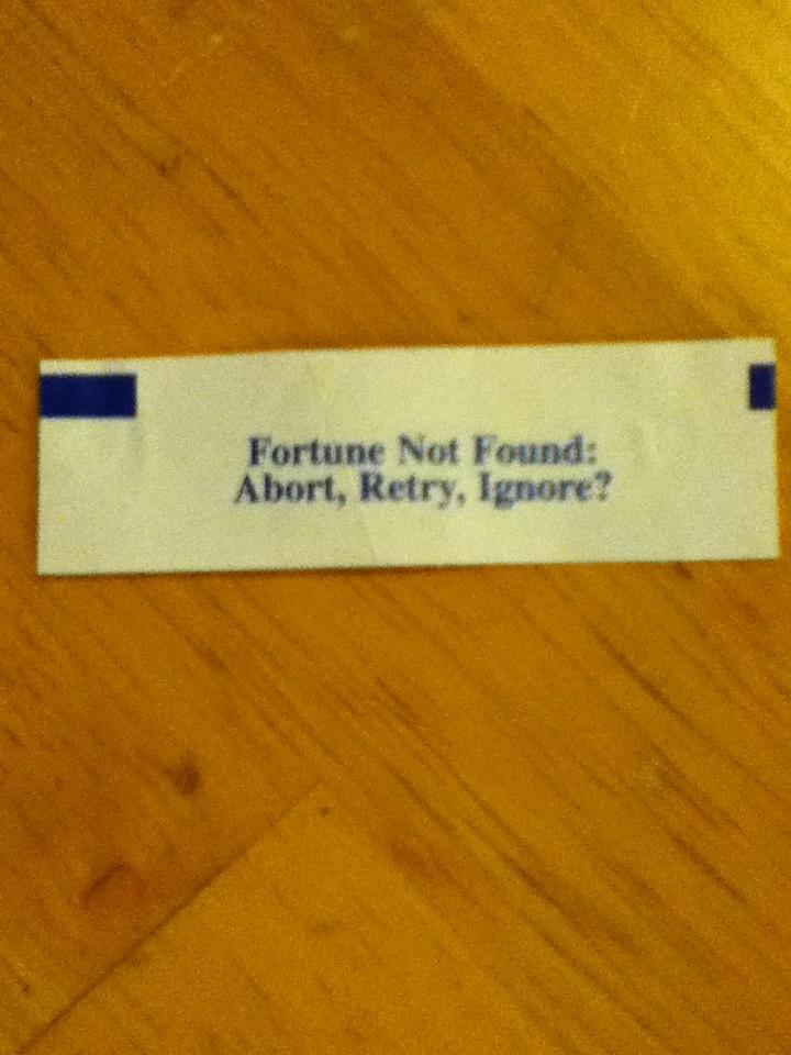 fortune not found cookie funny