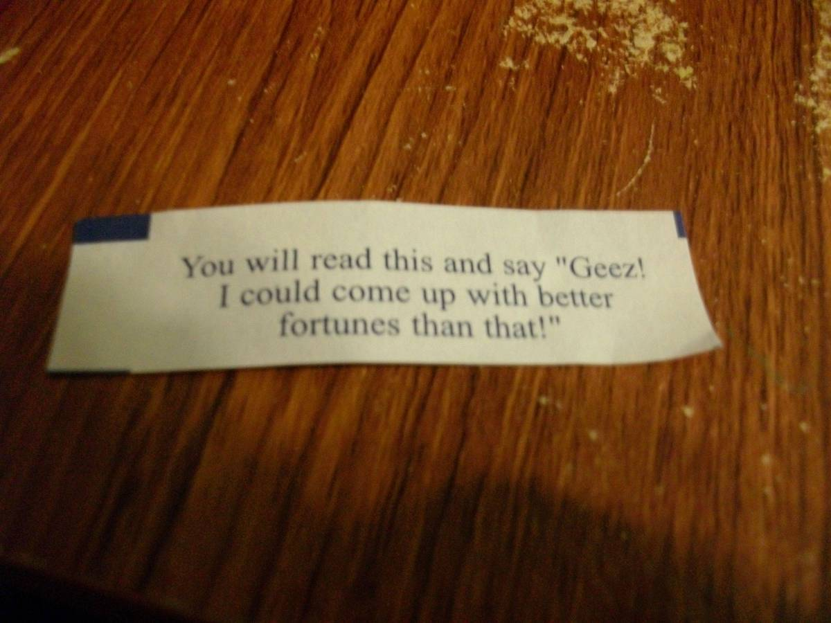 funny fortune cookie geez