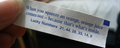 orange juice funny fortune cookie