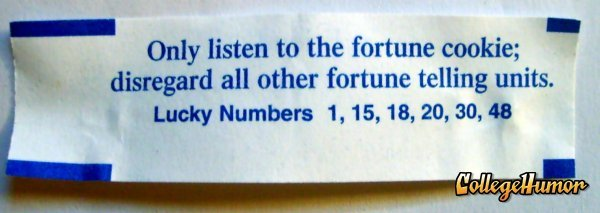 listen to the fortune cookie