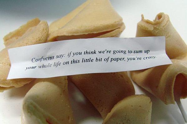 confucius say fortune cookie