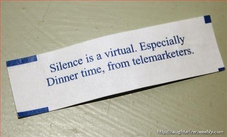 silence is virtual fortune cookie