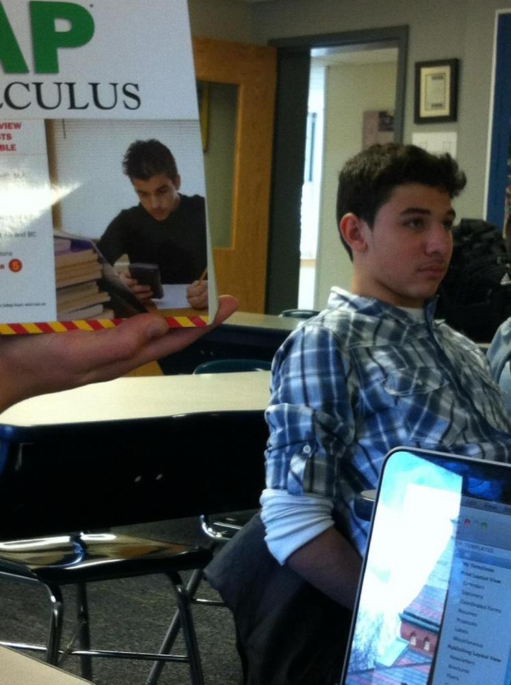 doppelganger kid studying