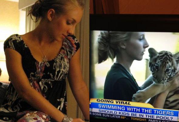 doppelganger girl on tv
