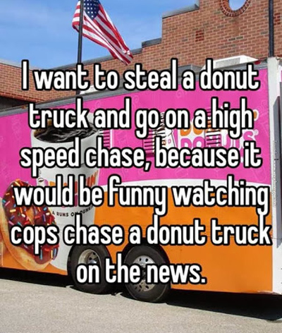 Funny Pictures steal donut truck