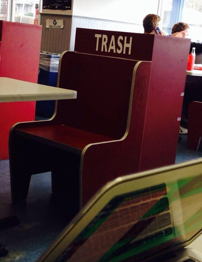 Funny Pictures trash chair