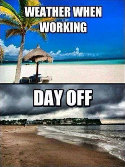 Funny Pictures working sunny day off cloudy