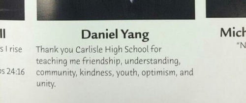 Inappropriate Yearbook Quotes and Moments spell out f u