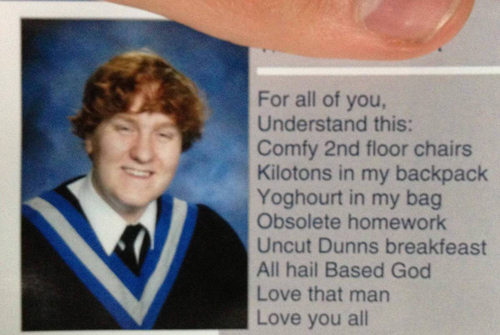 Inappropriate Yearbook Quotes and Moments first letter of each line