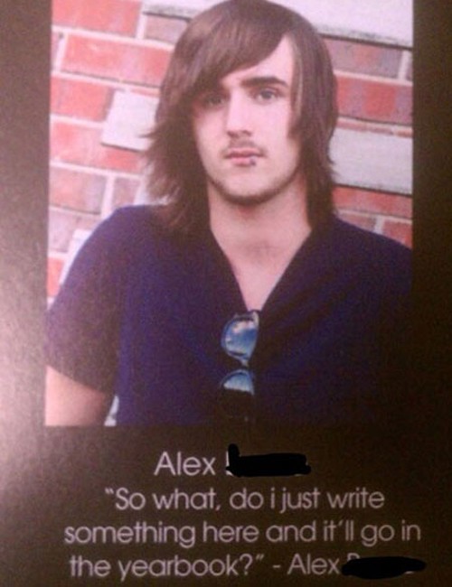 Greatest Yearbook Quotes and Moments do I just write