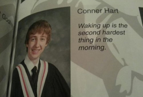 Inappropriate Yearbook Quotes and Moments morning wood