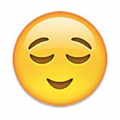 pleasantly content emoji meaning