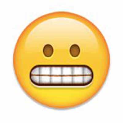 grimace emoji meaning