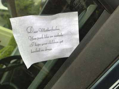 parking note